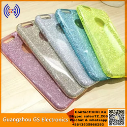 Fashion New Slim Soft Pearl Jelly TPU Glitter Sparkle Case For Iphone 6 Plus