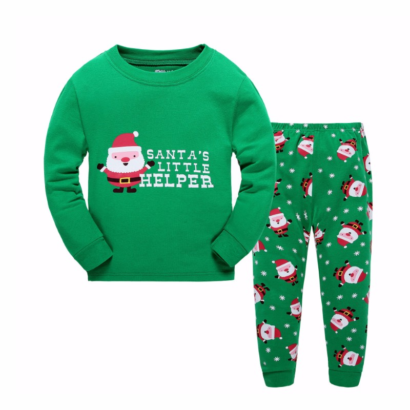 Chinese factory suppliers cotton kids christmas pajamas