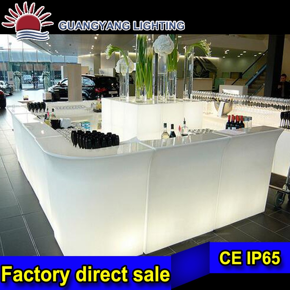Bar furniture for events and club, Color changeable LED Bar table