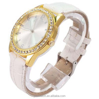 sexy ladies leather wrist watches white pu leather lady watch