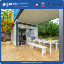 shipping container office with modular containers for living