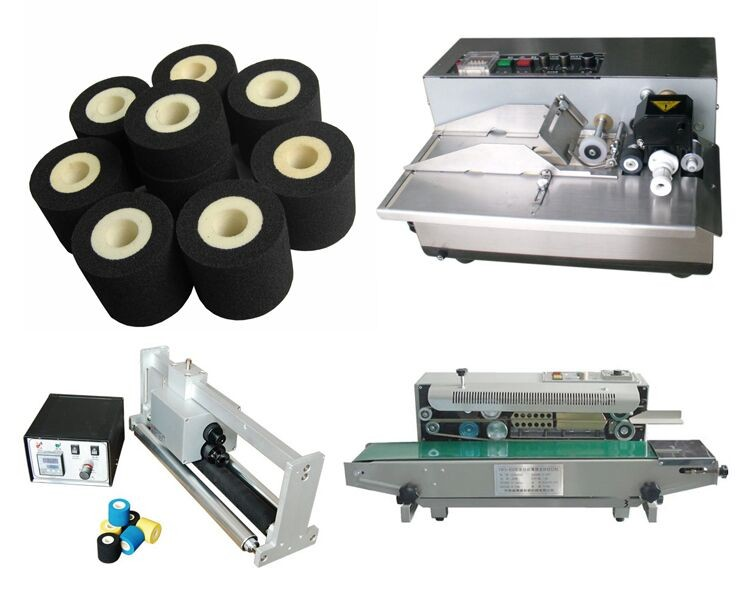 XJ black hot ink roller for MY380 coding machine rubber hot ink roller foam printing chemical for ink rollers