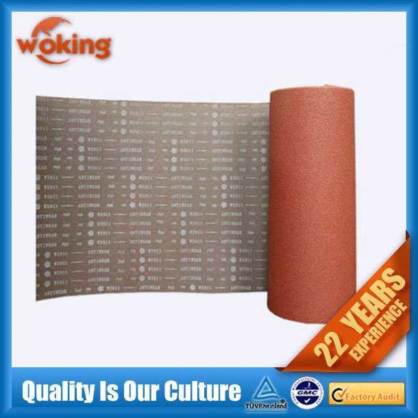 abrasive cloth sanding of aluminum oxide
