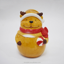 Giftware Ceramic Cookie Jar,Ceramic Canister Holiday Polar Bear, Multicolor