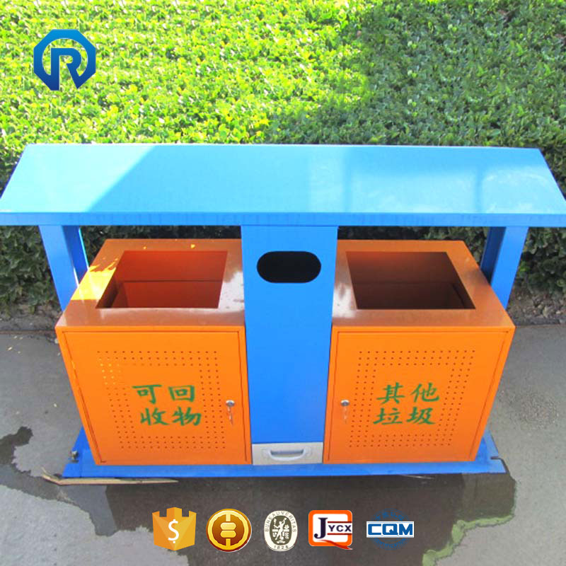 Classic design park garbage bin dustbin outdoor trash bin
