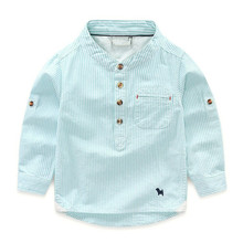 XY17014 Kids Custom Clothing New Style Fashion Boys Fancy Dress Shirt For Wholesale