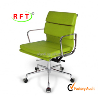 2017 green PU low back modern design office visitor chair furniture EA217