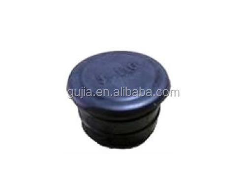 black plastic end cap hardware fittings for lean pipe