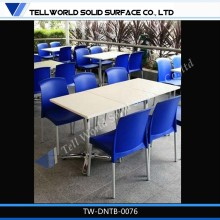 Hot sale and high quality solid surface dinning table/restaurant equipment