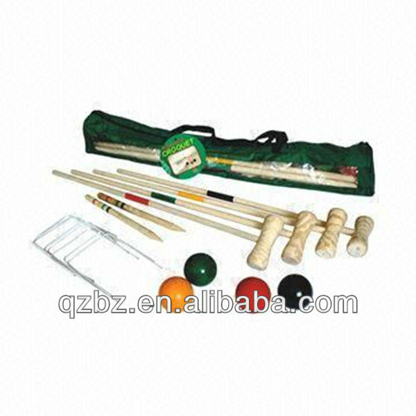 2017 Best Quality wooden croquet game set sport game set for yard game
