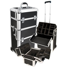 ABS luggage case,trolley cases travelling with EVA inner,aluminium luggage case