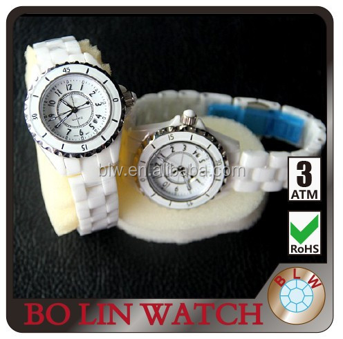 Top vegue women ceramic wrist watch shenzhen wholesale