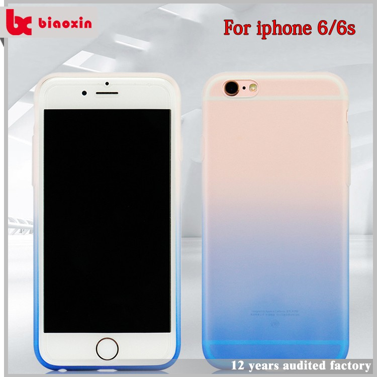 Low moq personalized paintable tpu case for iphone 6 plus