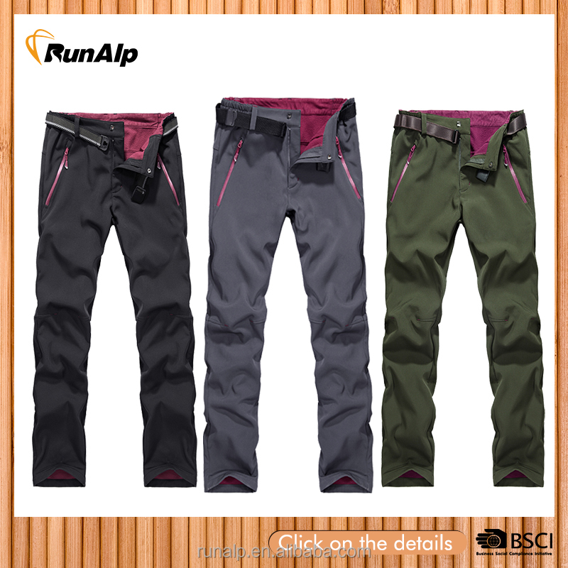 Mens softshell pants with belt