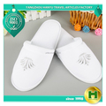 Dense Velvet Hotel Slippers / Beautiful Salon Women's Velour Bathroom Slippers / Disposable Custom Ladies' EVA Spa Slippers