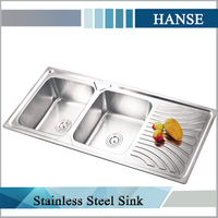 K-ESR12050 kitchen bowl sink stainless steel guangzhou/ inox sink/ corner sink