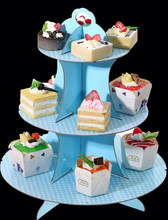 HIC cardboard cupcake display pedestal, small cupcake wedding party stands