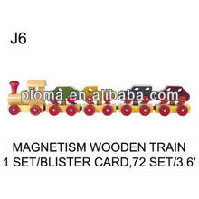TOYS FOR KID (J6) MAGNETISM WOODEN TRAIN
