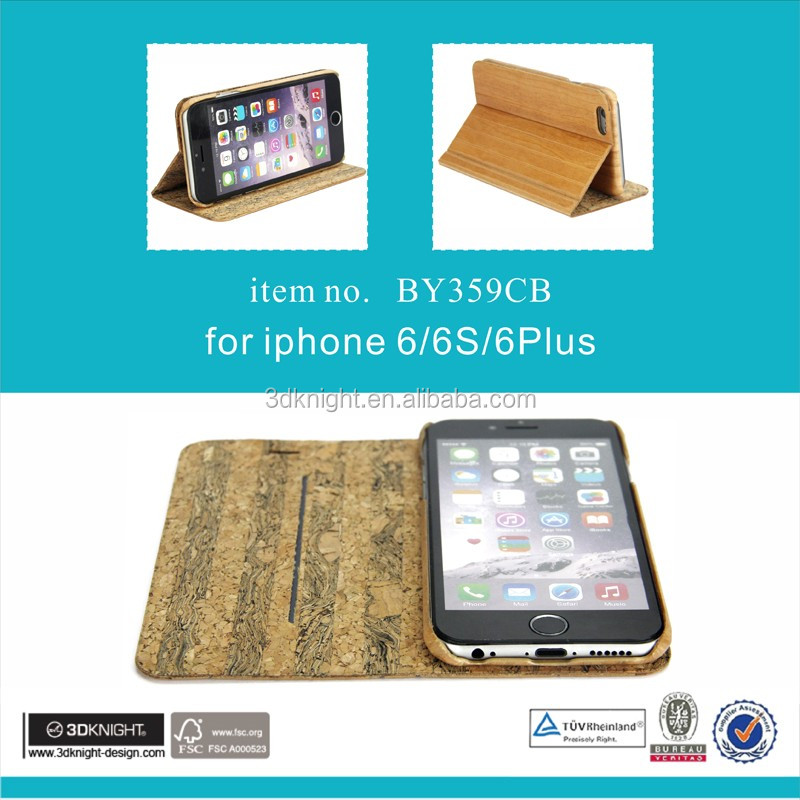 Luxury Wood grain Wallet flip stand phone case for iphone 6 case for ip6