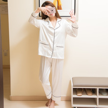 2017 New Fashion Stylish Women Sexy Washable Silk Pajamas Sets