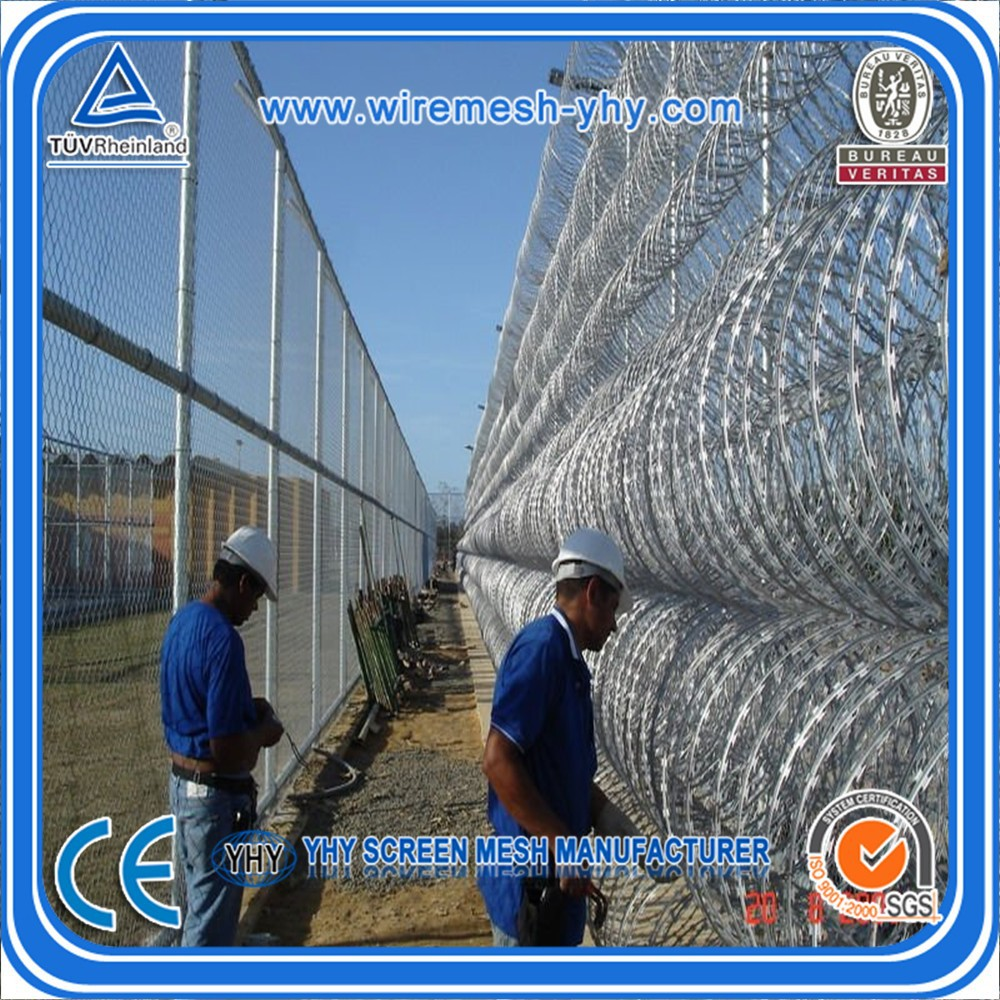 galvanized concertina razor barbed wire cross type BTO-30 (army security)
