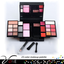 P23#1Cosmetic nature mineral component anti wrinke 23 color eyeshadow palette