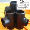 "5"" Equal tee reducer tee butt-welding carbon steel fitting pipe ANSI B16.9 ASTM A234 WPB BEVELLED END pipe fitting"