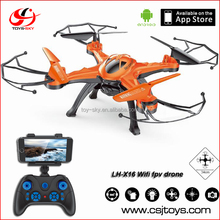 No minimum order Wholesale quadcopter lh-x16 Wifi fpv RC drone self flying with CF mode