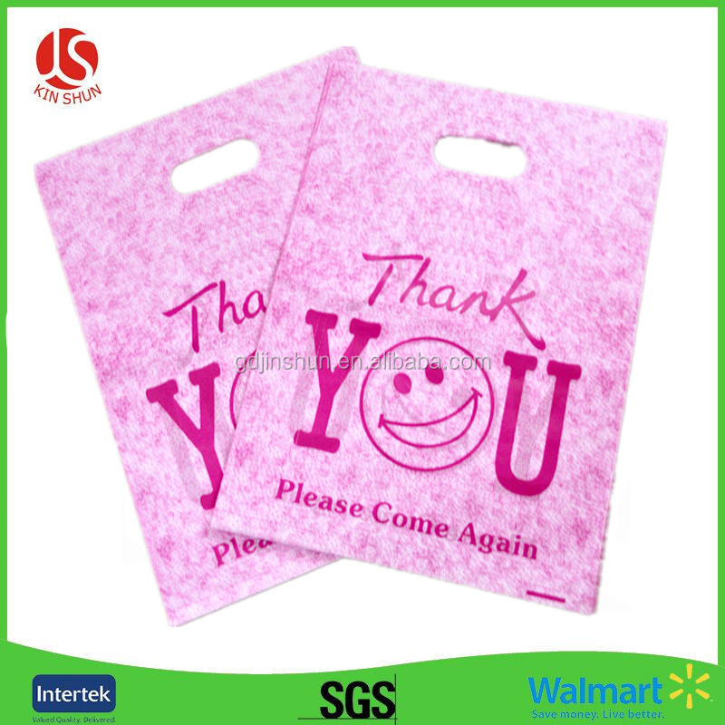 Recyclable patch handle LDPE plastic die cut carrier bags