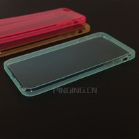 Cellphone Accessories Wholesale 2MM Thick Clear TPU 2016 New For i Phone 6 6S Case Cover Transparent