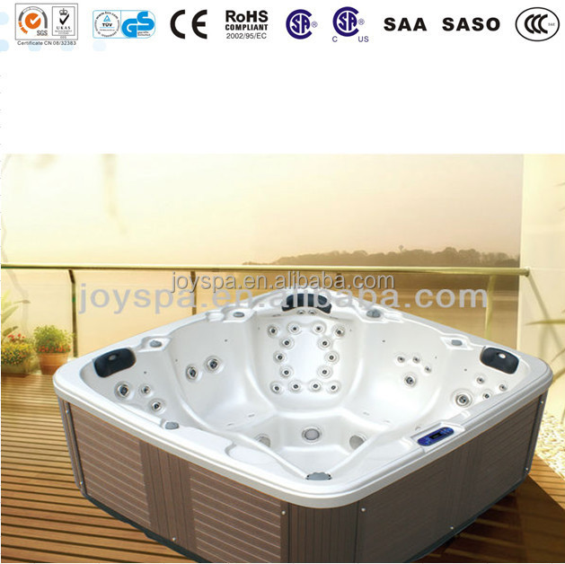 2015 new style outdoor acrylic sunspa spa hot tub outdoor with LEDlights