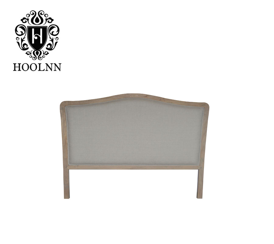 HL114K-F05 French-style Antique Wooden Upholstered Luxurious Single Headboard Struts Panels for Home Hotel