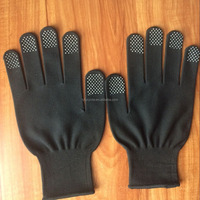 The beautiful top quality nylon dots on finger gloves