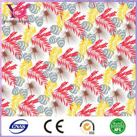 55% polyester 45% cotton mesh fabric jacquard bedding set printed fabric