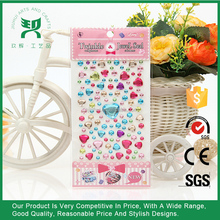 Gem Stickers Craft Rhinestone Mirror Decoration Sticker for Card Making