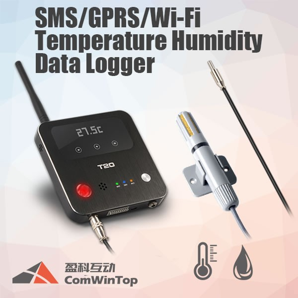 T20 wifi gsm gprs temperature humidity data logger