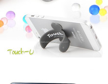 Top quality promotional gift durable microfiber mobile phone stand Touch U phone stand
