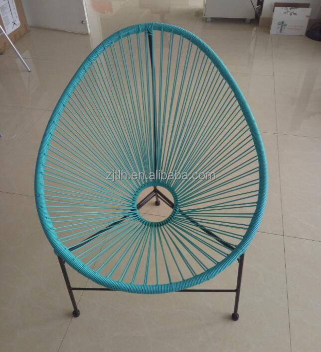 Fashional Leisure Outdoor Chair/Steel Frame With Plastic Rope Acapulco Chair