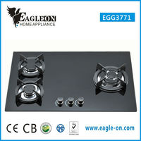 2015 high quality new design glass body gas cooktop with grill EGG3771