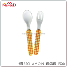 SGS certificate manufacturer bulk buy environmental melamine mini personal fork and spoon