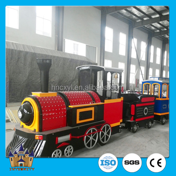 Wonderful outdoor tourist trackless train amusement road train square equipment