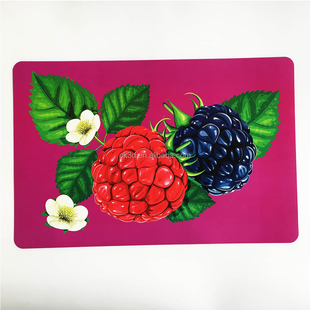 Chongkun Printing,the best 3D lenticular products .cheap carton PP/PET commercial placemats your own hot sale for kids children
