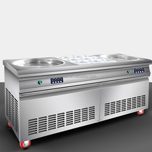 2018 Wholesale double pan fried ice cream machine ice roll machine for sale factory type good price