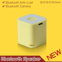 Dual-used Mini cube bluetooth speaker with anti-lost and camera shutter selfie functions