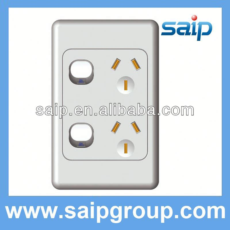 Luxurious 1 gang surface mounted wall switch of UK/US/AS with 5A,8A,10A,15A,20A,25A,30A