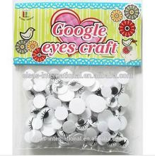 DIY various moving toy eyes Plastic Black Movable Wiggle With Stem Plastic Back Googly Eyes