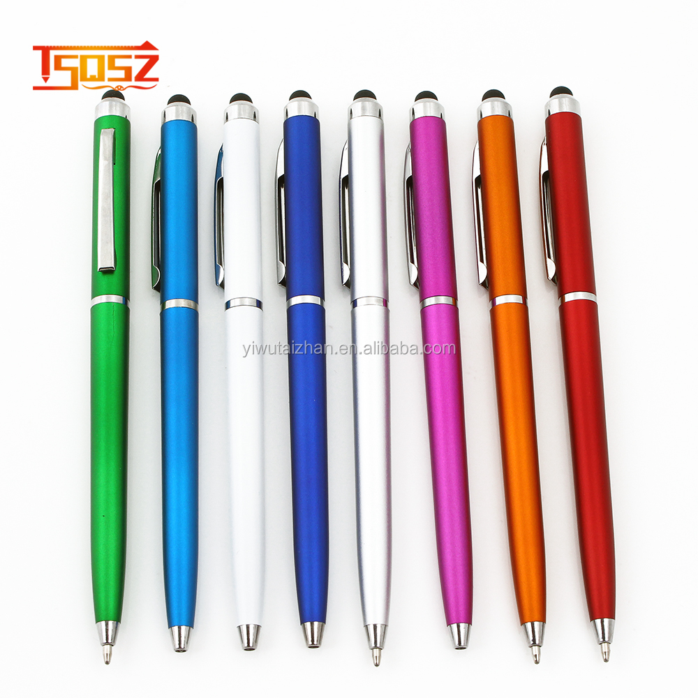 New Promotional gifts colorful metal cross pen custom logo touch pen stylus pen