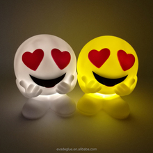 Plastic Cheap Emoji Battery Operated Night Light Vinyl Toys