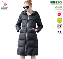 New Design Women Thick Padded Water resistant Winter Goose Down Parka Coat Long