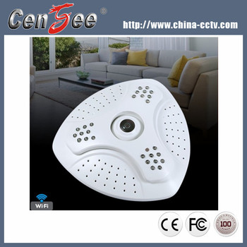 Cctv 1.3Megapixel Hd 360 Degree Ceiling Camera Onvif 360 Panoramic Ip Fisheye Camera Support Wifi Wireless And TF Card Storage